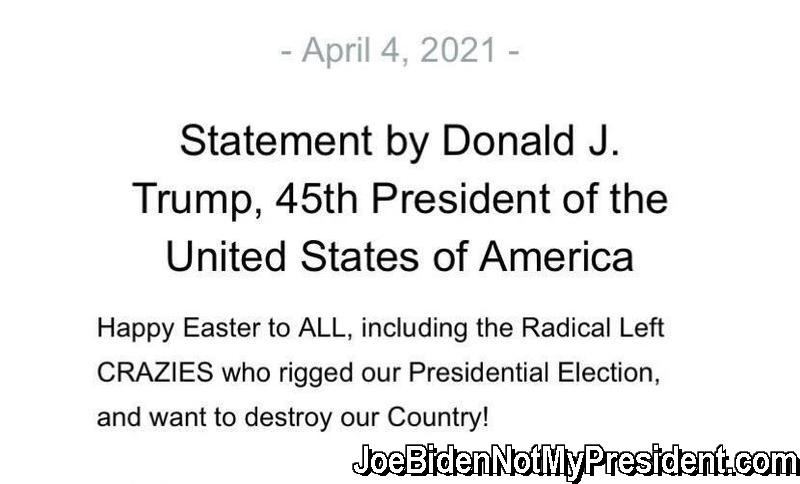 Easter Message From the Real President